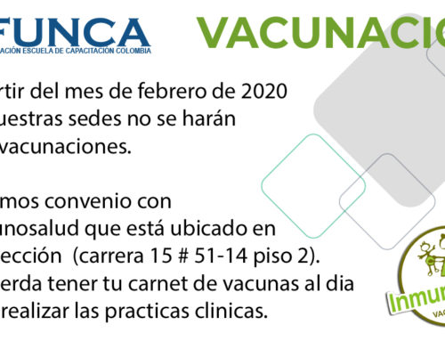 ¡No se harán más jornadas de vacunación en nuestras sedes!
