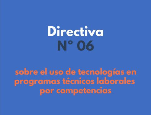 Directiva N° 06 del ministerio de Educación